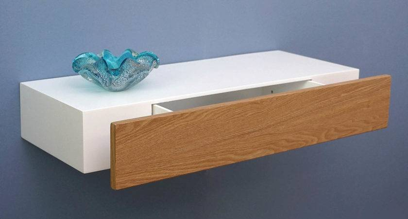 Floating Shelf Ash Drawer Topshelf
