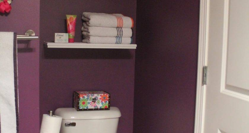 Floating Shelves Above Toilet Wall