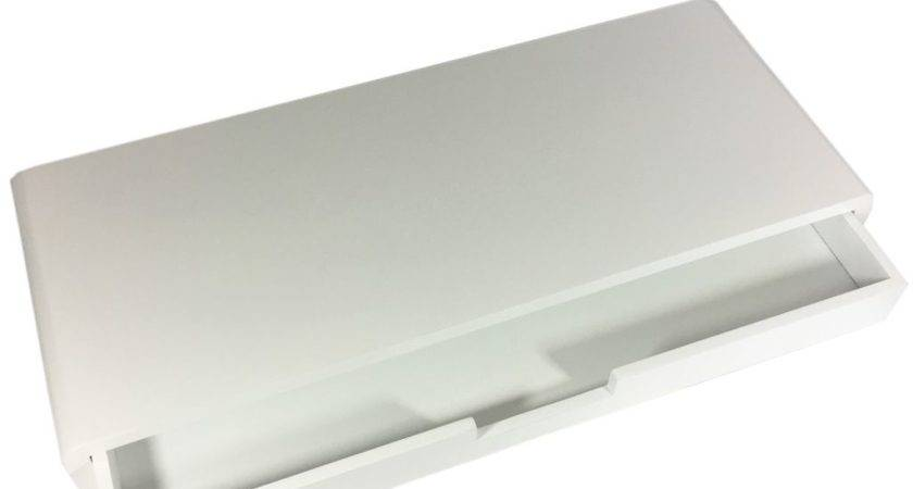 Floating Shelves Drawer White Wall