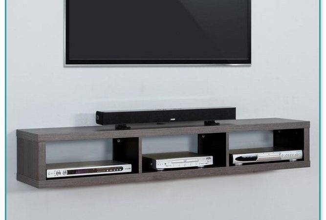 Floating Shelves Under Wall Mounted
