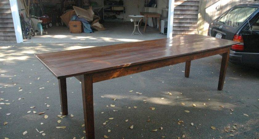 Foot Inch Long English Farmhouse Dining Table Stdibs