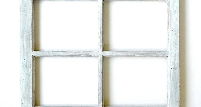 Four Pane Wood Window Frame Attractive Wooden