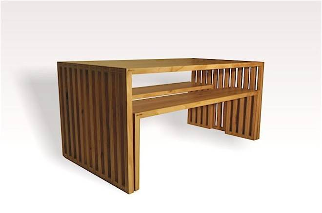 Four Seater Plywood Dining Table Mio Mano