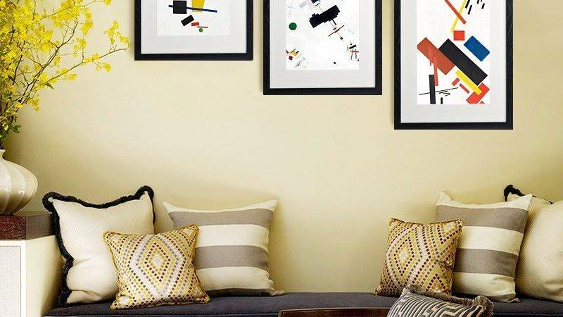 Frame Decor Examples Living Room Mostbeautifulthings