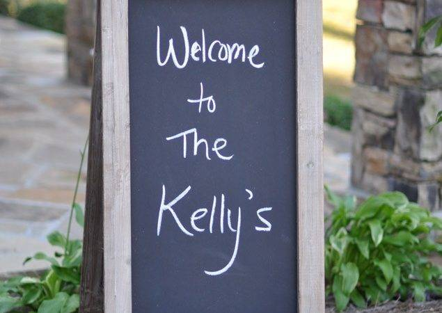 Frame Wood Chalkboard Sign Rustic Event Accessory