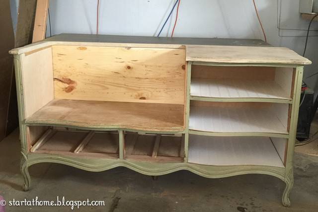 French Dresser Turned Bench Start Home Decor
