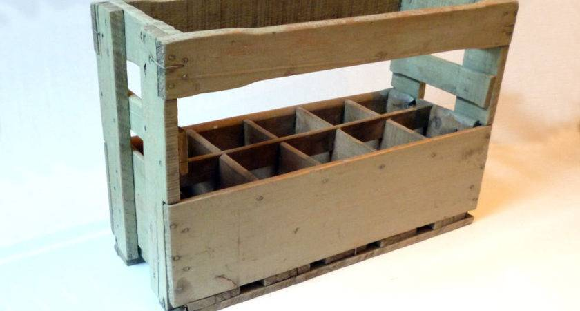 French Wine Crate Wooden Carrier Ten Bottle