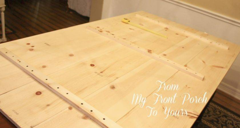 Front Porch Yours Diy Wood Plank Table Top Reveal
