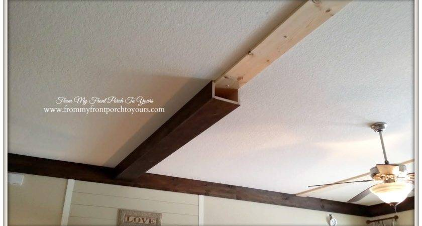 Front Porch Yours Made Our Diy Wood Beams