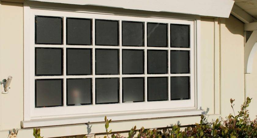 Frosted Glass Window Film Adds Privacy Garage Windows