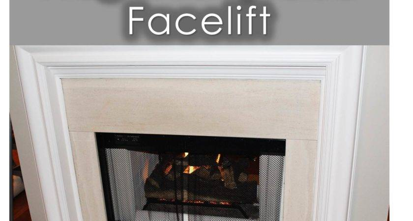 Frugal Fireplace Facelift Peachfully Chic