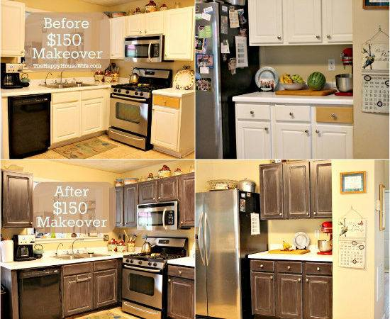 Frugal Kitchen Cabinet Makeover Happy Housewife