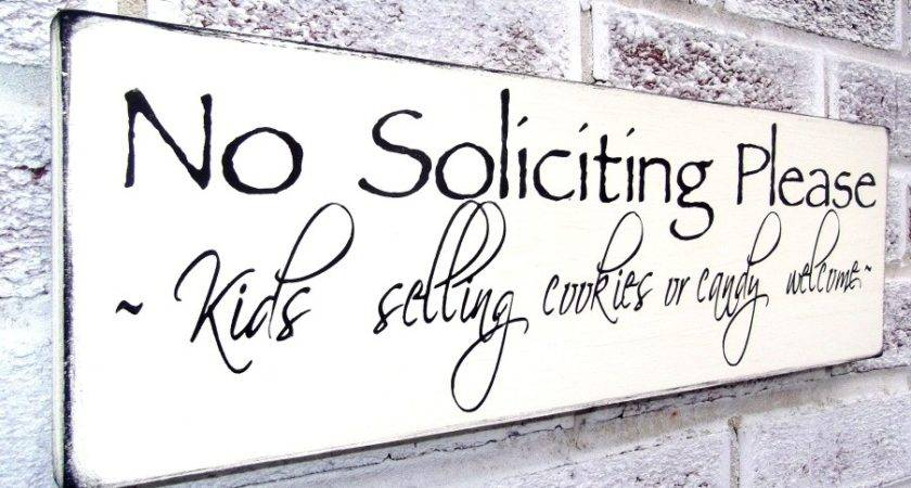Funny Soliciting Sign Solicitation Yard Art Front