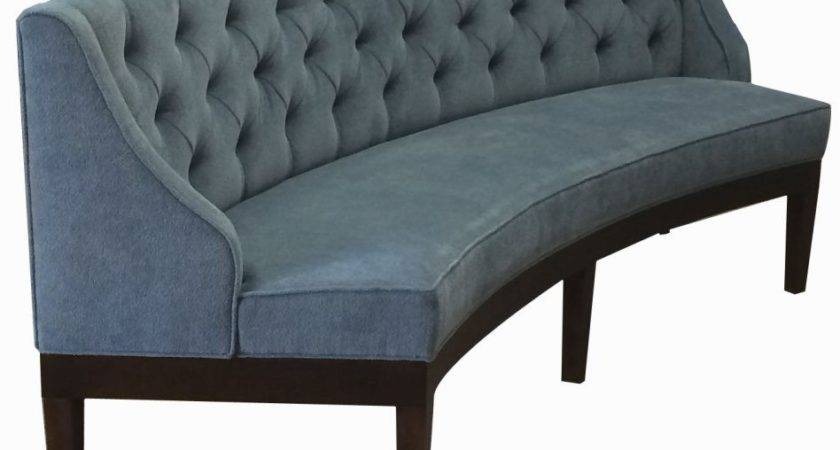 Furniture Curved Banquette Seating Wooden Best Home