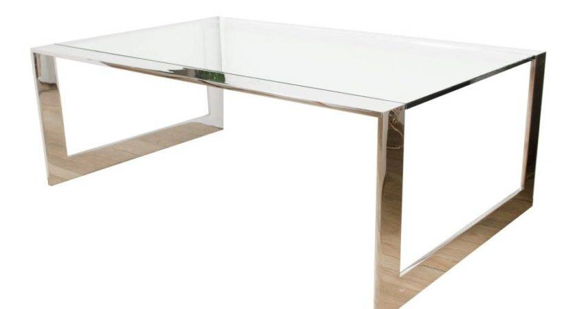 Furniture Lucite Waterfall Coffee Table Bullnose