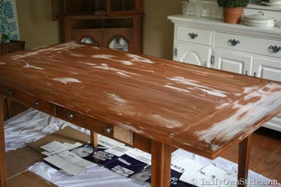 Furniture Makeover Weathered Driftwood Finish