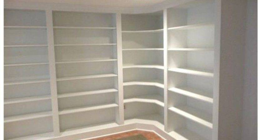 Furniture Peachy Diy Built Bookshelves Design Ideas