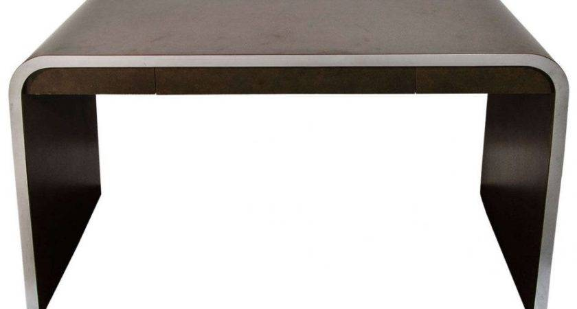 Furniture Signed Acrylic Waterfall Console Table