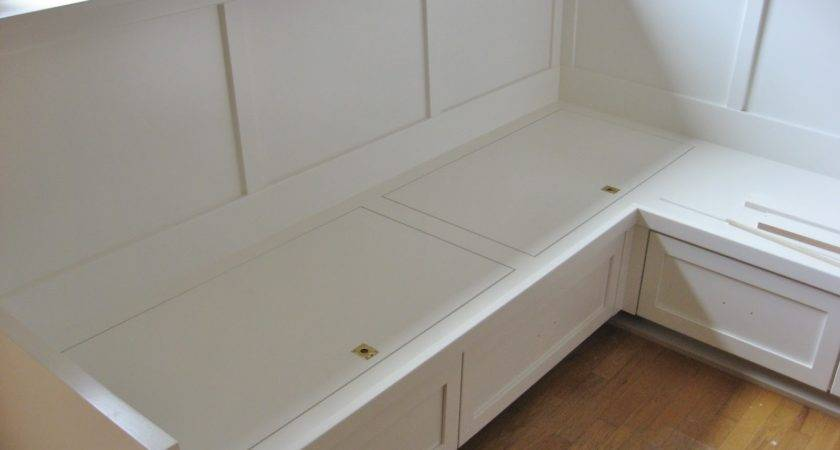 Furniture White Wooden Corner Storage Bench Brown