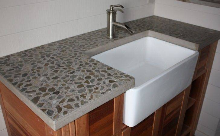 Furniture Wonderful Concrete Trough Sinks Give