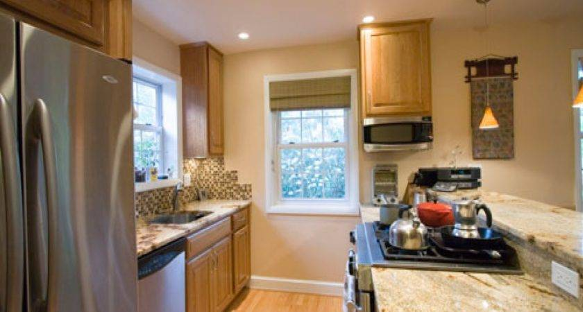 Galley Kitchen Remodel Open Concept