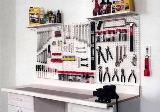Garage Pegboard Tool Storage Workbench Organizer New Ebay