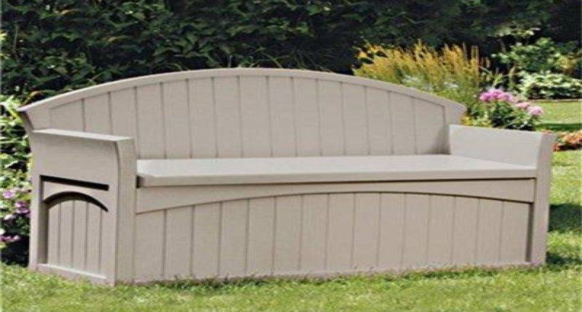 Garden Storage Buildings Suncast Patio Bench