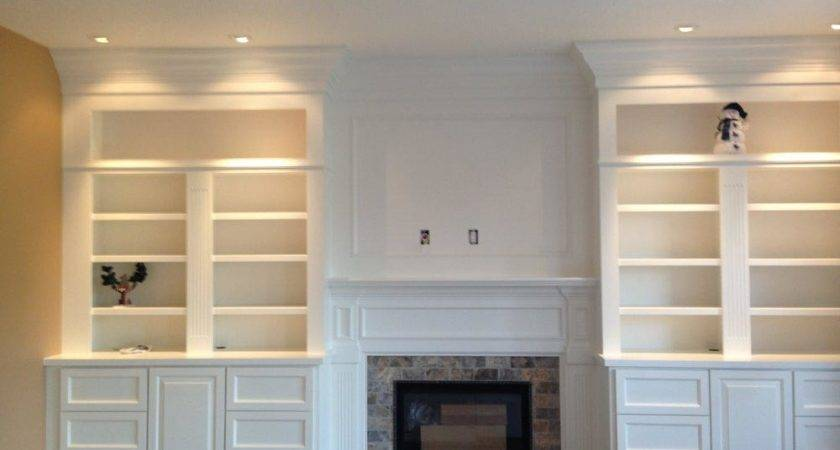 Gas Fireplace Surrounds Bookcases Designs