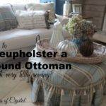 Gates Crystal Reupholstering Round Ottoman