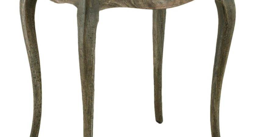 Gavon Country Curved Rustic Mahogany Side Table Kathy