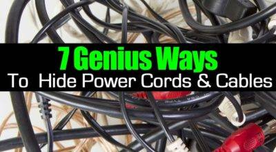 Genius Ways Hide Power Cords Cables