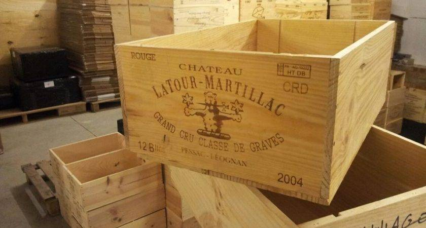 Genuine Bottle Large Wooden Wine Crate Box