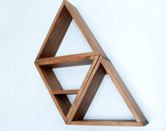 Geometric Modern Shelving Triangle Shelf Haasehandcraft