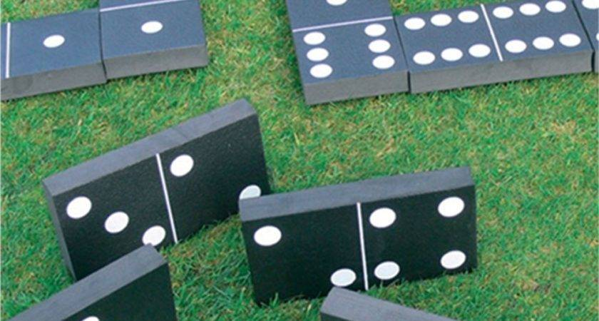 Giant Dominoes Garden Game Kingfishers Party Set Pack Ebay