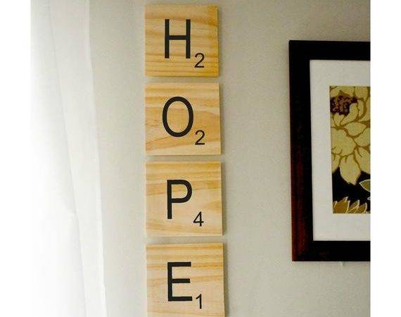 Giant Scrabble Style Wood Wall Art Choose Your Own Letters