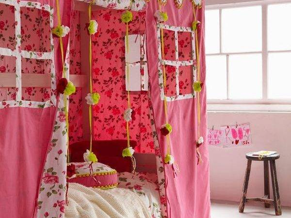Girl Twin Canopy Bed