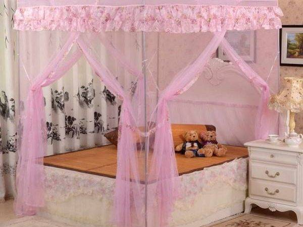 Girls Canopy Bed Curtains Reference