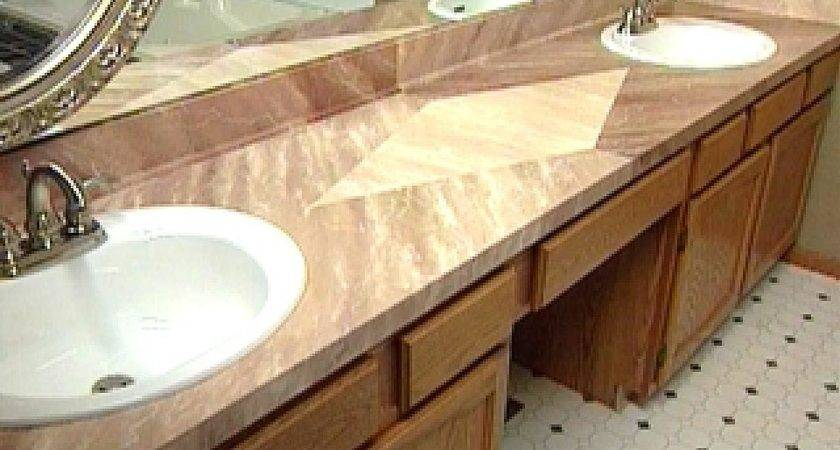 Give Laminate Countertop Faux Marble Finish Hgtv