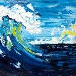 Good Vibrations Pallet Knife Wave Beginner Acrylic