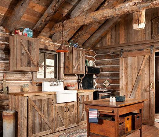 Gorgeous Rustic Log Cabin Kitchen Off Grid World