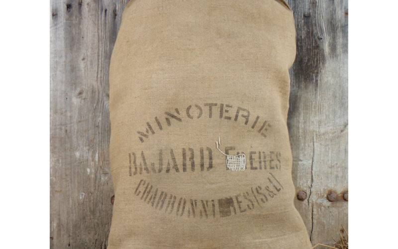 Grain Sack Burlap Flour Bag Vintage French Rustic
