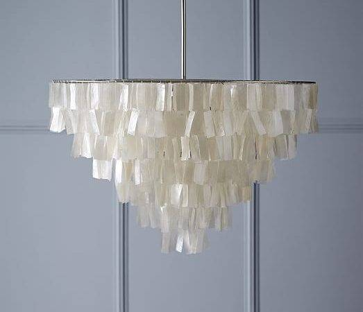 Grand Capiz Chandelier White West Elm