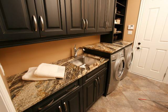 Granite Laundry Room Traditional Other