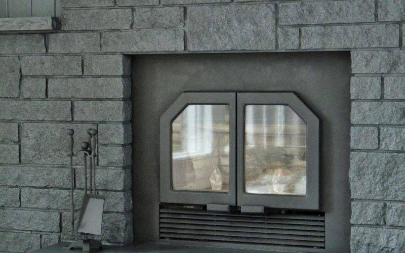Gray Painted Brick Fireplace Designs