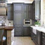 Gray Painted Kitchen Cabinets Traditional