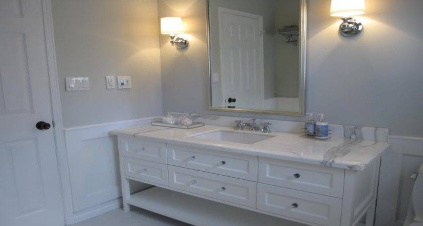 Gray White Bathrooms Benjamin Moore Blue Paint