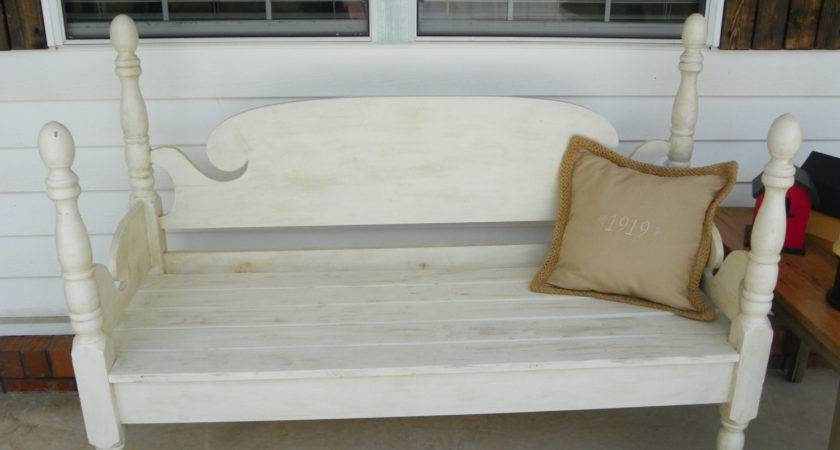 Great Bench Made Antique Headboard Footboard