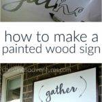 Great Diy Tutorial Make Large Painted Wood