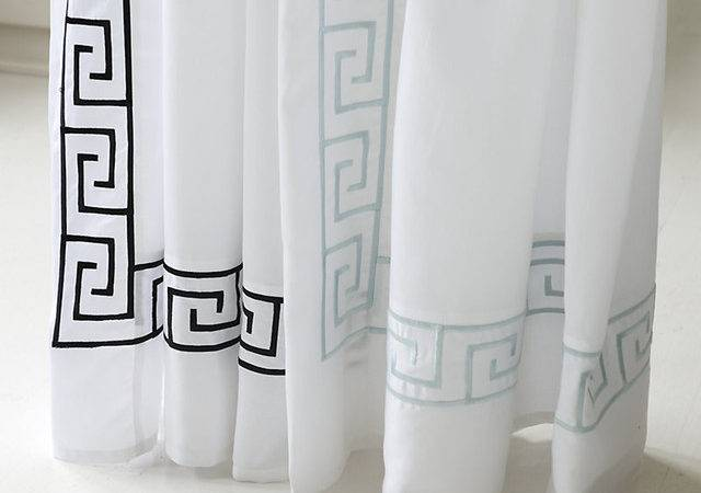 Greek Key Shower Curtain Traditional Curtains