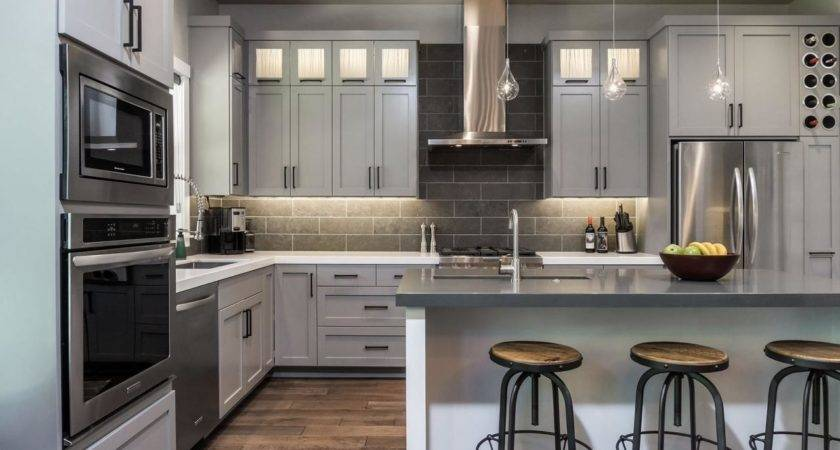 Grey Kitchen Cabinets Futuristic Color Your